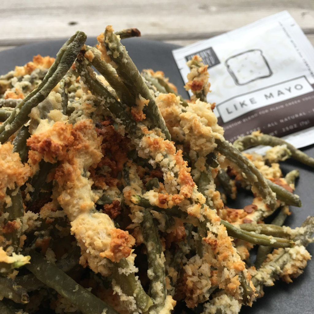 healthy, gnarly, pepper, green, bean, fries, baked fries, veggie fries, vegetable fries, no flour, like mayo, unique breading, panko bread crumbs, green beans, egg whites, egg wash, oven baked, recipe, seasoning, blend, dip, mix, veggie