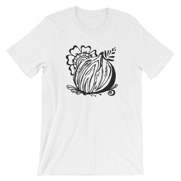 gnarly, pepper, onion, tee, tshirt, t-shirt, original, drawing, henna, sara,