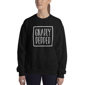 gnarly pepper, gnarly, pepper, sweatshirt, black, oversized, black, logo, shirt, food, startup, logo, ariana, grande, style