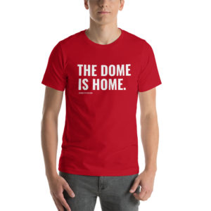 the dome, is home, sd, ne, nebraska, south dakota, college, vermillion, so, sioux city, south sioux city, high school, cardinal, yote, tshirt