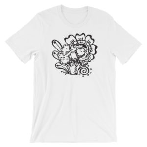 gnarly, pepper, broccoli, tee, tshirt, t-shirt, original, drawing, henna, sara,